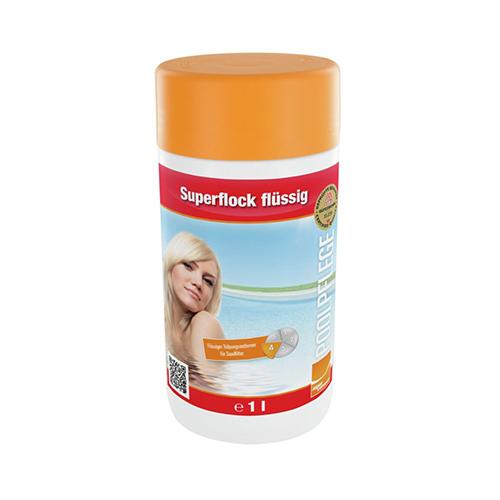 Steinbach Superflock flüssig, 1 l Poolbedarf Swimmingpool Wasserqualität