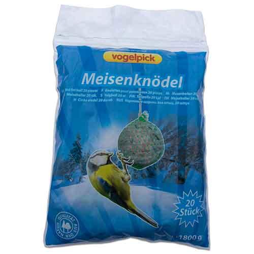Rahmer Meisenknödel - Früchte/Rosinen (20 Stk.) Vogelfutter Winterfutter