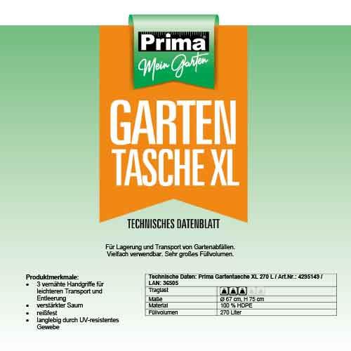 Prima - Popup Gartensack/Abfallsack, diverse Größen