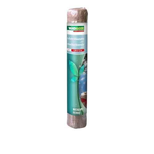 Windhager Winterschutz Vliesmatte natur, 100% Jutefaser, 38 x 150 Pflanzenabdeckung Frostschutz