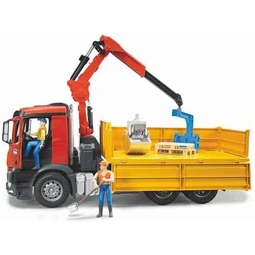Bruder   Arocs Baustellen LKW mit Kran
