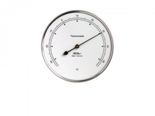 Thermometer aus Edelstahl Fischer