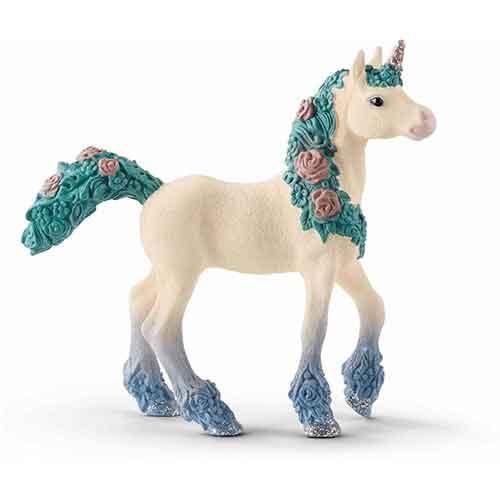 Schleich Spielfiguren Tiere Pferde Blüteneinhorn Fohlen