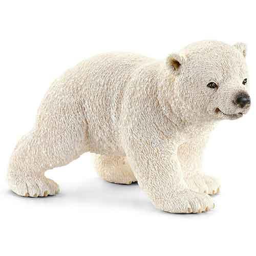 Schleich Spielfiguren Tiere Eisbärjunges, laufend