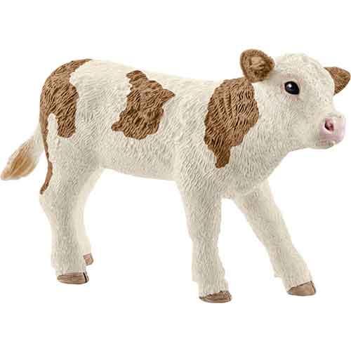 Schleich Spielfiguren Tiere Bauernhof Fleckvieh-Kalb
