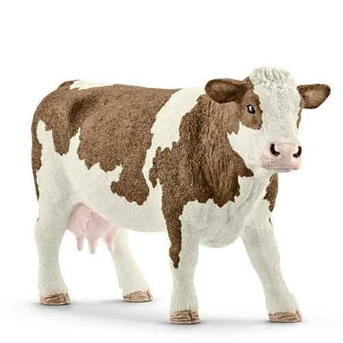 Schleich Spielfiguren Tiere Bauernhof Fleckvieh-Kuh