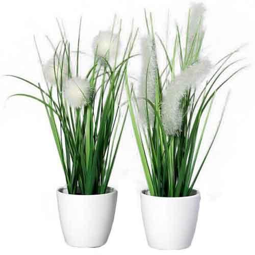 trixi Kunstblume Kunstpflanze unechte Pflanze schilfgras