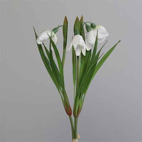 Schneeglöckchen Kunstblume Kunstpflanze unechte Pflanze trixi