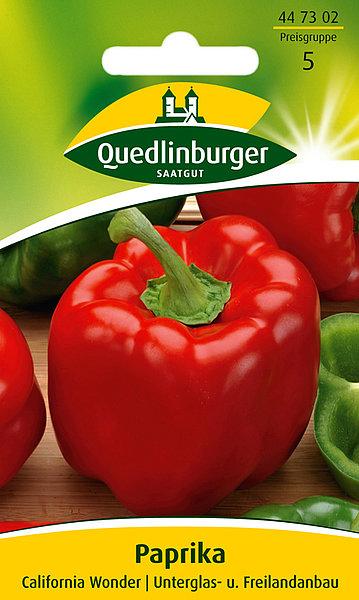 Saatgut   Paprika California Wonder   Quedlinburger