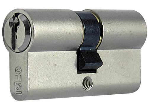 Profilzylinder Messing Schloss mattvernickelt 28/33 mm