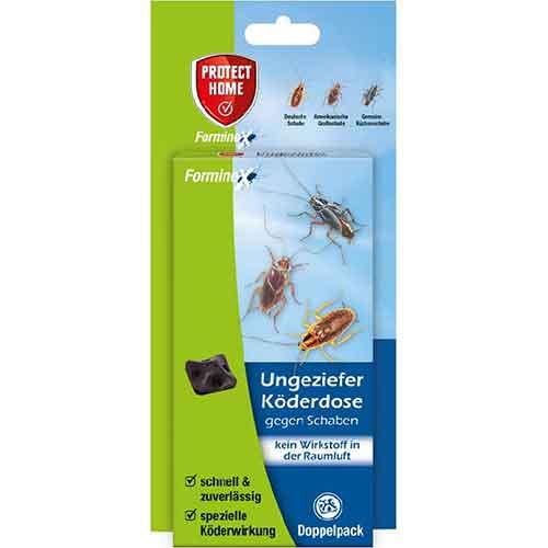 Protect Home FormineX Ungezieferköderdose gegen Schaben, 2 Stück