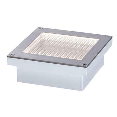 Paulmann | Bodeneinbauleuchte Aron Solar Metall BWM, 100x100x42mm