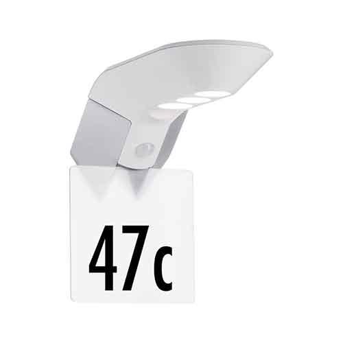 Paulmann   Zubehörteil Hausnummer für Soley solar LED Wandleuchte Metall Weiß