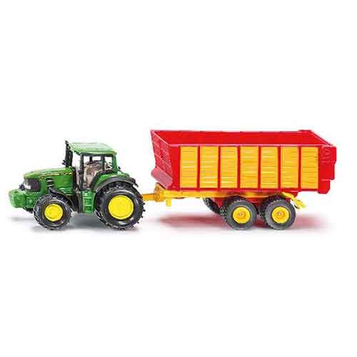 Siku | John Deere Traktor mit Silagewagen